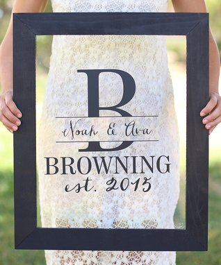 Newlywed Personalized Wall Sign