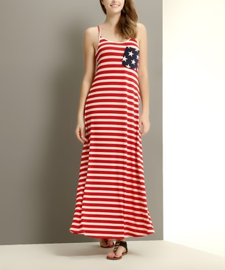 Reborn Collection Red Stripe Contrast Pocket Maxi Dress