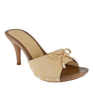 Lena Luisa Beige Bow Acer Sandal