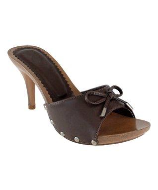 Lena Luisa Chocolate Bow Acer Sandal