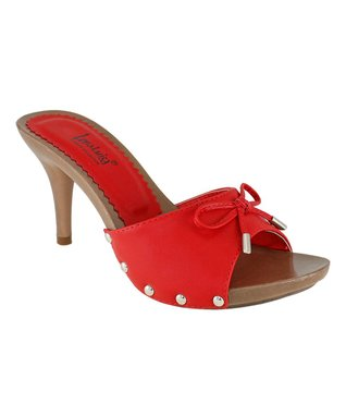 Lena Luisa Red Bow Acer Sandal