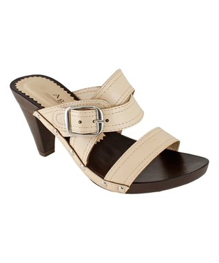 Agape Orange Image T-Strap Sandal