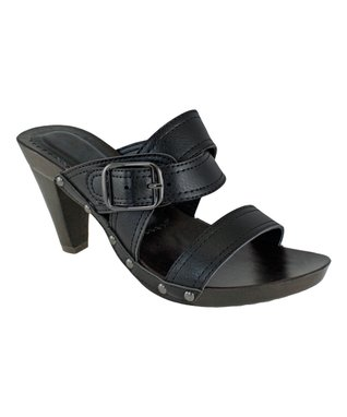 Agape Black Buckle Avenue Sandal
