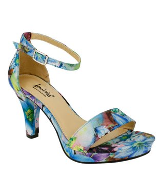Lena Luisa Turquoise Floral DSW Sandal
