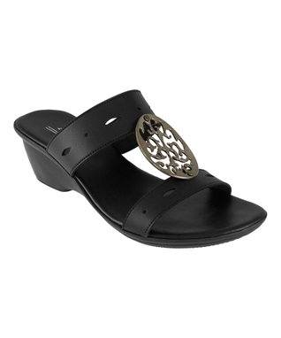 Agape Orange Herringbone Initial Sandal