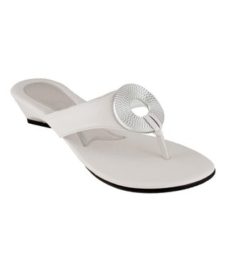 Agape White Huge Sandal