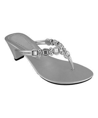 Agape Silver Bejeweled Irad Sandal