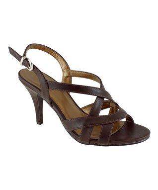 Lena Luisa Chocolate Crisscross Laven Sandal