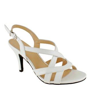 Lena Luisa White Crisscross Laven Sandal