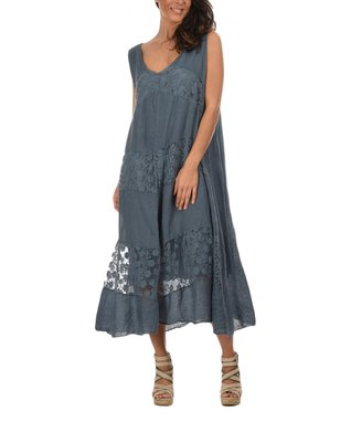 Faded Blue Joey Linen Dress