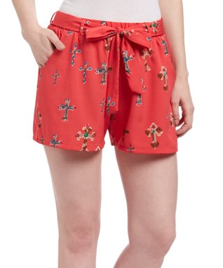 Pink Cross Shorts