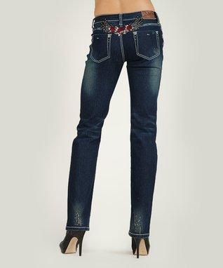 Dark Stone Amelia Mid-Rise Bootcut Jeans