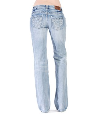 Dark Stone Forever Crystal Mid-Rise Bootcut Jeans