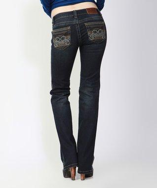 Light Stone Bohemian Dream Mid-Rise Bootcut Jeans