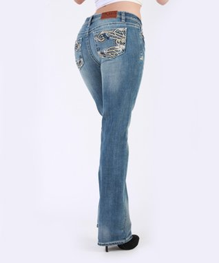 Light Stone Morning Star Mid-Rise Bootcut Jeans