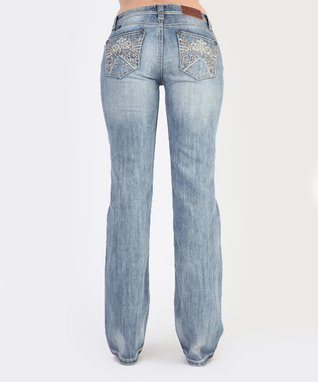 Light Stone Starlight Low-Rise Bootcut Jeans
