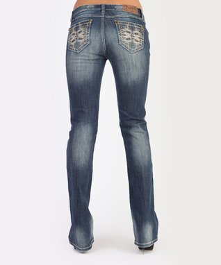 Light Stone Mid-Rise Bootcut Jeans
