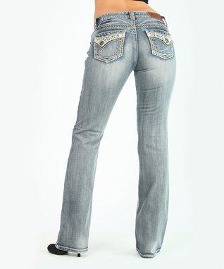 Light Stone Bountiful Low-Rise Bootcut Jeans