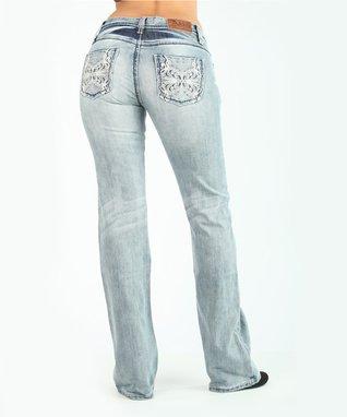 Light Stone Farfalla Low-Rise Bootcut Jeans