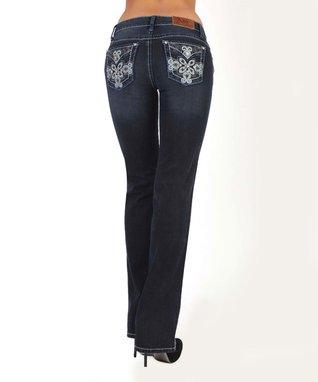 Dark Stone Fresh Prairie Low-Rise Bootcut Jeans
