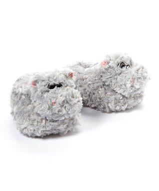 Groggadooz Gray Hippo Head & Base Combo Slipper