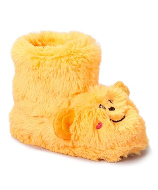 Estee & Lilly Orange Monkey Boot Slipper