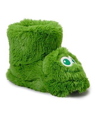 Estee & Lilly Green Frog Boot Slipper