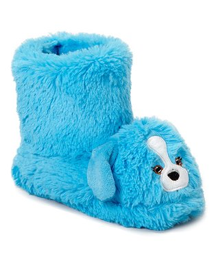 Estee & Lilly Blue Dog Boot Slipper