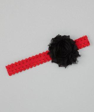 Tan & White Flower Headband