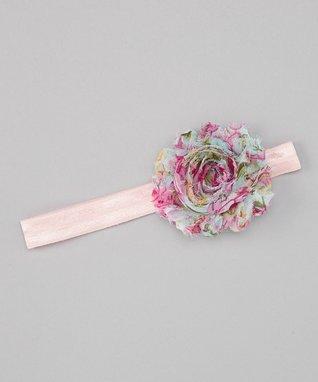 Pink Rose Flower Headband