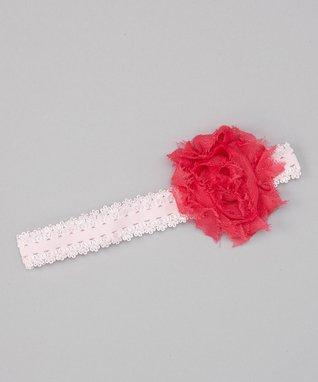 Black Polka Dot Flower Headband