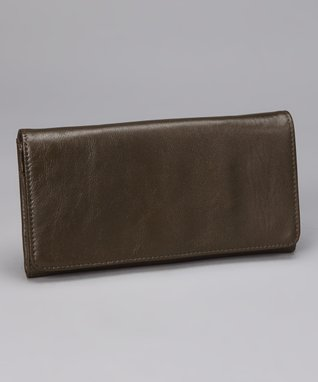 Latico Leather Metallic Olive Roxie Wallet