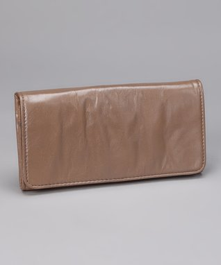Latico Leather Metallic Taupe Roxie Wallet