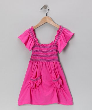 Fuchsia Stitch Peasant Dress - Toddler & Girls