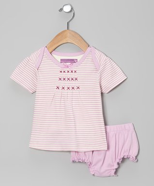 Duck Duck Goose Yellow & Pink Butterfly Shorts Set - Infant