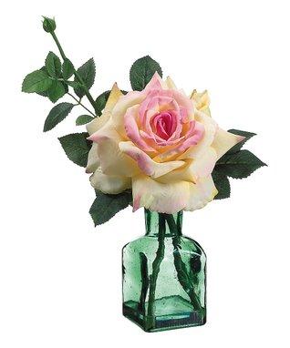 Pink & Yellow Rose Vase Arrangement