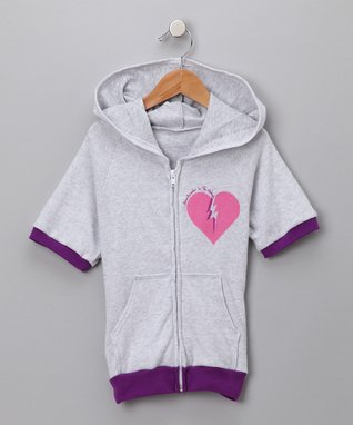 Gray 'Heartbreaker' Hoodie - Toddler & Girls