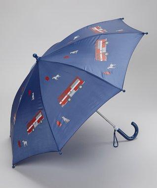 Foxfire Blue Fire Truck Umbrella