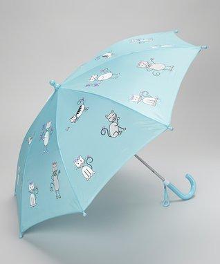 Foxfire Angel Blue Kitten Umbrella