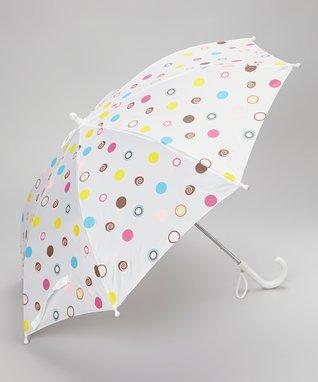 Foxfire White Polka Dot Umbrella