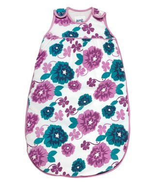 Magenta & Teal Floral Organic Sleeping Sack - Infant