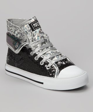 Gotta Flurt Black Convertible Aurora G Hi-Top Sneaker