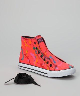 Gotta Flurt Neon Orange Epic Hi-Top Sneaker