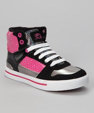 Gotta Flurt Hot Pink Hip-Hop Hi-Top Sneaker