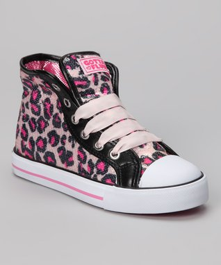 Gotta Flurt Hot Pink Pop Punk Hi-Top Sneaker