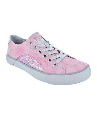 Gotta Flurt Pink & Silver Sunset Sneaker