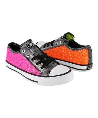 Gotta Flurt Pink & Orange Twist Me Jiggy Sneaker