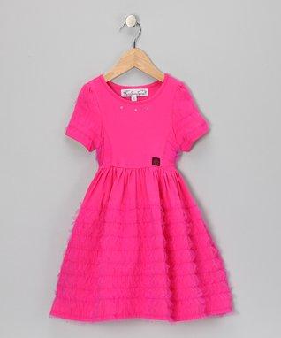 Raspberry Melinda Dress - Girls