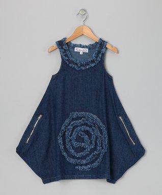 Blue Wash Denim Yana Dress - Toddler & Girls