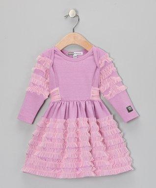 Raspberry Polka Dot Azalea Handkerchief Dress - Infant & Toddler